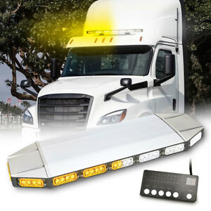27 64led Roof Light Bar Tow Truck Emergency Beacon Warn Plow Strobe Amber White