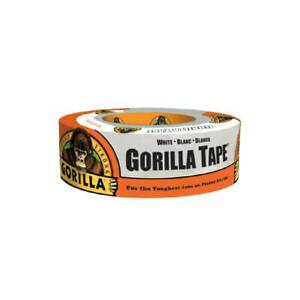 Gorilla Tape White Duct Tape 1 88 In X 30yd Roll Strong Hand Tear Indoor Outdoor