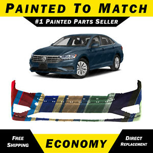 New Painted To Match Front Bumper Cover Fascia For 2019 2020 Vw Volkswagen Jetta
