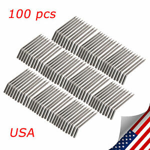 100 Pcs Dental Air Water Triple 3 way Spray Syringe Metal Spray Nozzle Tips Csf