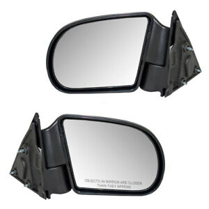Pair Manual Side View Mirrors For Blazer Hombre Jimmy S10 Pickup Truck Sonoma