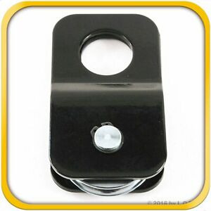 Snatch Block Recover 8 000 Lb Capacity Winch Pulley 4t 4 Ton Black Load Reducing