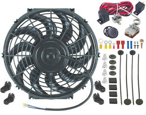13 Inch Electric Radiator Engine Cooling Fan Adjustable Controller Switch Kit
