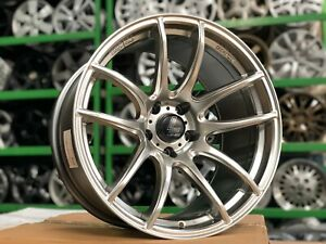 New 18x10 et 1 Lenso Spec E Wheel 5x114 3 set Of 4 Suitable For Wide Body Cars