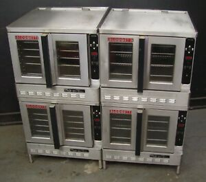 Two Blodgett Dfg100 Commercial Double Stack Gas Convection Oven s Matched Set