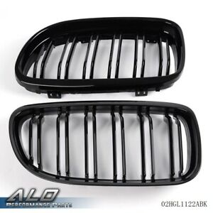 For 08 2011 Bmw E90 E91 Lci 3series Pair Front Kidney Grille Grill Double Slat