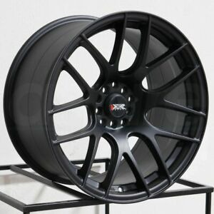 16x8 Xxr 530 4x100 4x114 3 20 Flat Black Wheels Rims Set 4