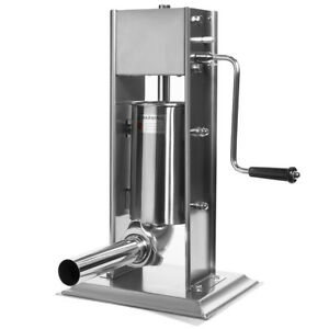 5 pounds Sausage Vertical Stuffer Sausage Maker Hand Crank Stainless Steel