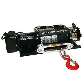 Bulldog Winch 10040 12000lb Trailer Winch Synthetic Rope Hawse Fairlead
