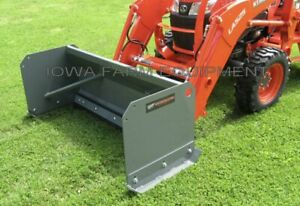 7 Snow Pusher Front End Loader Skid Steer Q a Rubber Cutting Edge 24 x24