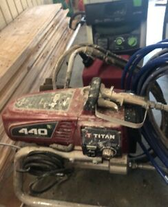 Titan 440 Impact Airless Paint Sprayer With Repack Kit And New Graco Gun