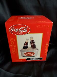 Coca-Cola 2 Bottle Light Musical Ice Fountain Cooler Collectible lamp real water