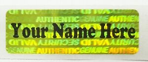 Svyc Custom Yellow Hologram 5 X 1 5 Product Protection Stickers