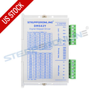 Stepperonline Stepper Motor Driver 1 0 4 2a 20 50vdc For Nema 17 23 Cnc Dm542y