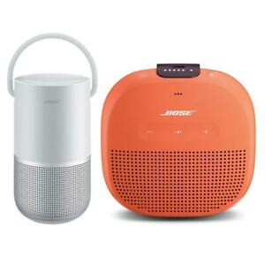 Bose Home SpeakerLuxe Silver WBose SoundLink Micro Bluetooth Speaker Orange