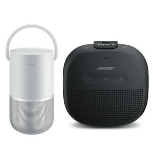 Bose Home SpeakerLuxe Silver With Bose SoundLink Micro Bluetooth SpeakerBlack