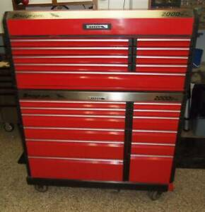 Snap On Tool Classic 2000 Series Top Bottom Box Chest Rolling Kb2100 Kb2001