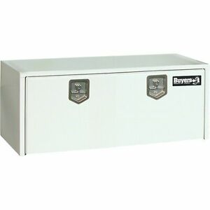 Buyers Products Steel Underbody Truck Tool Box With Drop Door White 24in Wlg