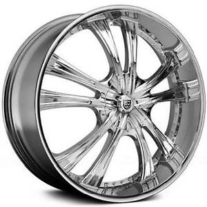 1 One 30 30x8 5 15 Lexani Lss 55 Chrome Wheel Blank Lug Chevy Cadillac Rim