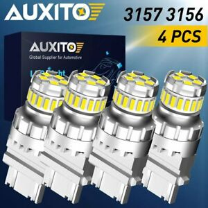 4x Auxito 3157 4114 4157 Led Drl Driving Daytime Running Light Bulbs 6500k 3156