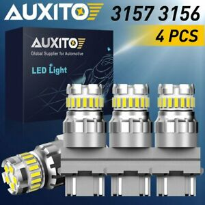 4x Auxito 3157 4114 4157 Led Drl Parking Daytime Running Light Bulbs 3156 White