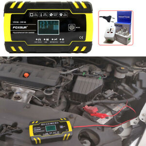 Automatic Battery Charger Maintainer Tender 12 24v 150ah Motorcycle Atv Boat Car