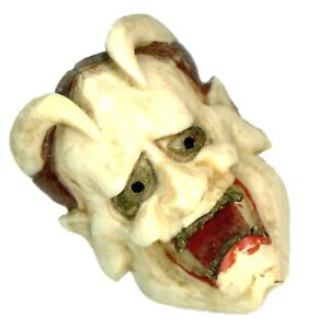 Button Early 20th C Carved Tengu Netsuke