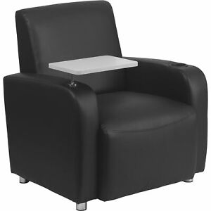 Flash Furniture Leather Tablet Chair With Floor Glides Black Model bt8217bk
