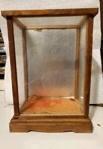 Vintage Small Display Case Wood Frame Doll Case Glass Case