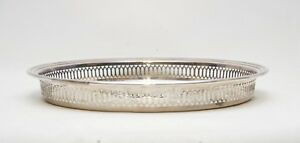 Vintage Wm A Rogers Silver Plated On Brass Ornate Serving Plate Tray 13 Inch