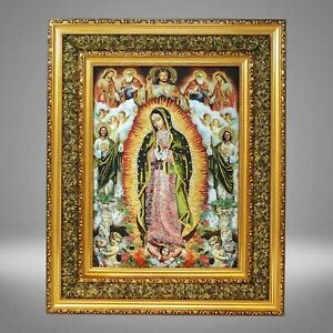 Virgen De Guadalupe Cuadro 17 x21 Varios Our Lady Guadalupe Picture Frame