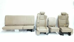 Lariat Super Cab Seats 2001 2004 Ford F250 F350 Truck Some Wear Leather