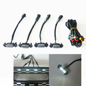 Grill Led Lights Fits For 2016 2019 Toyota Tacoma Trd With Wire 4pcs White
