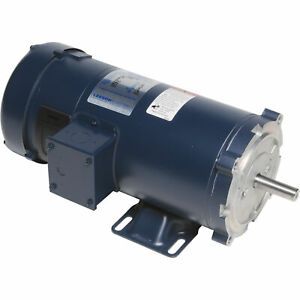 Leeson Low Voltage Dc Motor 1 0 Hp 24 Volts 1800 Rpm Model 4d17fk9