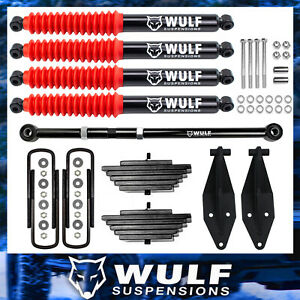 3 Front Lift Kit With Track Bar Wulf Shocks For 2000 2005 Ford Excursion 4x4