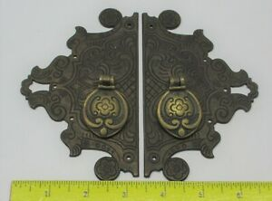 Antique English Brass Asian Style Cabinet Door Pulls