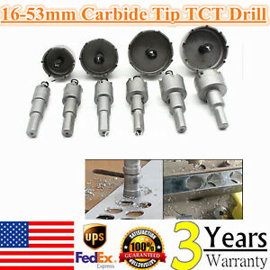 10pc Carbide Tip Tct Drill Bit Hole Saw Cutter 16 53mm Set For Steel Metal Alloy