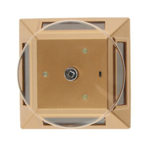 Solar Powered Jewelry Watch Rotating Display Stand Turntable With Led Gold