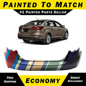 New Painted To Match Rear Bumper Cover For 2015 2018 Ford Focus Sedan 4 door