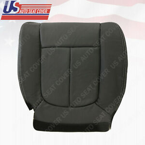 2012 2013 2014 Ford F150 Front Driver Bottom Black Perforated Leather Seat Cover