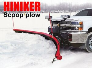 Hiniker Scoop Snow Plow Fits Chevy Heavy Duty Commercial 9 Handles Big Pushes