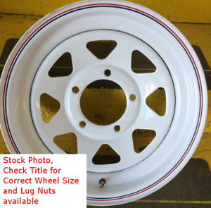 5 New Trailer Wheels 16 Inch 16x6 8on6 5 8x6 5 8 Bolt 8 Lug White Spoke Rim Sil