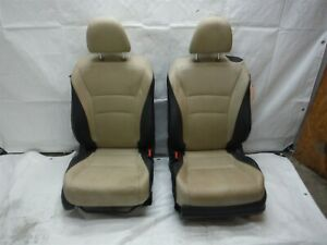 2014 Honda Accord Coupe Tan And Black Leather Seat Set Front And Rear Oem 2013