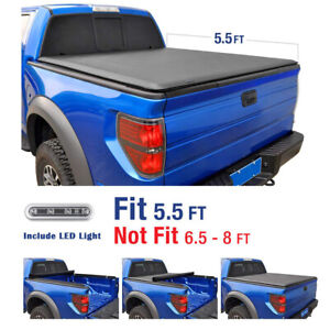 New 5 5 Short Bed Roll Up Soft Tonneau Cover For 2009 2019 Ford F 150