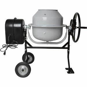 Klutch Mini Portable Electric Cement Mixer 1 77 Cubic Ft Drum
