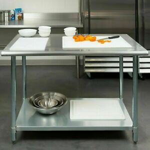 30 X 48 Nsf Stainless Steel Work Prep Table With Undershelf Kitchen Restaurant