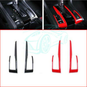 Interior Trim Accessories Carbon Fiber Or Red For 2016 2017 Honda Civic