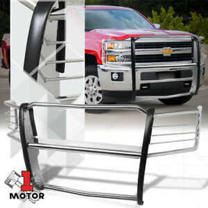 Chrome Stainless Steel Grille brush headlight Guard For 14 18 Chevy Silverado