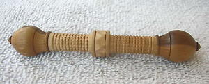 Antique 1870 Victorian Hand Carved Wooden Needle Case Sewing