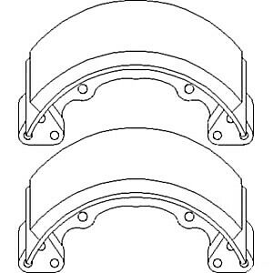 66385 22390 New Set Of 2 Brake Shoes Made To Fit Kubota Compact Tractor Models
